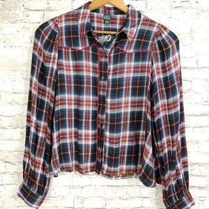 5e078f51aed2bc wild fable Tops | Flannel Blue And Black Shirt Sz Medium | Poshmark